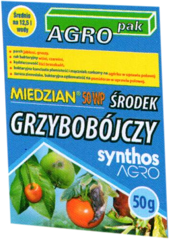 Miedzian 50 Wp 50g Agromika